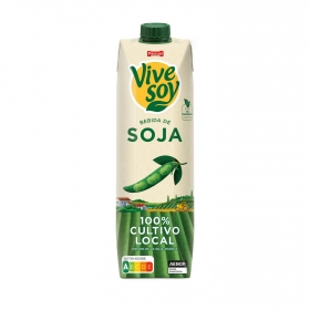 Bebida de soja clasica ViveSoy sin gluten brik 1 l.