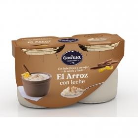 Arroz con leche Goshua pack de 2 unidades de 125 g.