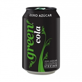 Refresco de cola Green Cola lata 33 cl.