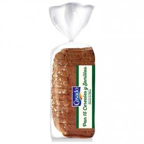 Pan 15 cereales y semillas Casado 675 g.