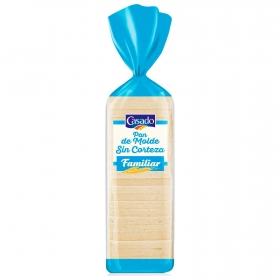 Pan de molde blanco sin corteza Casado 820 g.