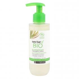 Gel limpidor suave para todo tipo de pieles ecologico Nectar Of Bio 150 ml.