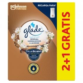 Ambientador Bali Sandalwood y Jasmine recambio Glade by brise 2 ud.