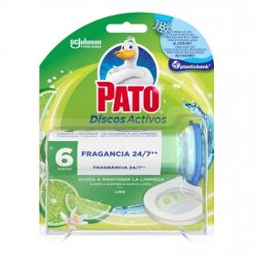 Discos wc activos inodoros lima aparato + recambio Pato 1 ud.