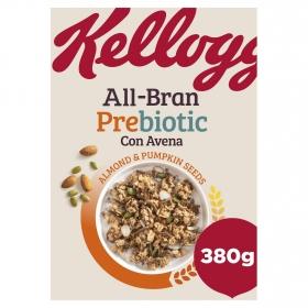Cereales prebiotic con almendras y semillas de calabaza All Bran Kellogg's 380 g.
