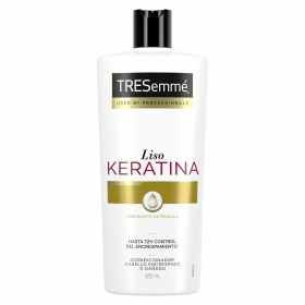 Acondicionador liso keratina con aceite marula hasta 72h control del escrespamiento Tresemmé 685 ml.