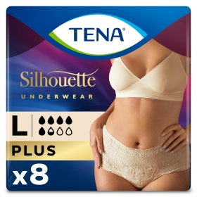 Pants Plus triple protección talla L (44-54) Tena Lady 8 ud.