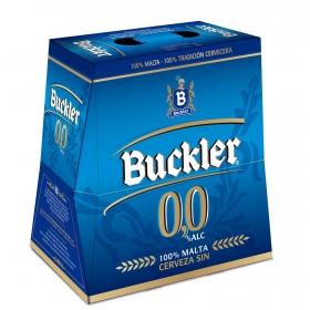 Cerveza Buckler 0,0 sin alcohol malta pack de 6 botellas de 25 cl.