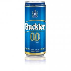 Cerveza Buckler 0,0 sin alcohol malta lata 33 cl.