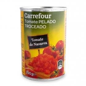 Tomate de Navarra pelado troceado Carrefour 390 g.