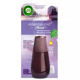 Ambientador eléctrico tranquilidad con aroma de jazmín relajante , té verde y flor de loto recambio Air Wick Essential Mist 1 ud.