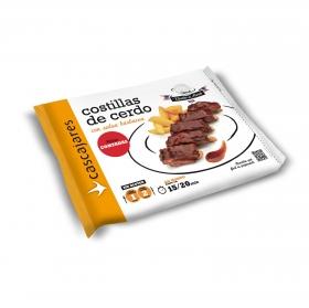 Costillas de cerdo asadas con salsa barbacoa al estilo americano 550 g