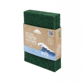Estropajo Fibra Reciclada ROBENZAL Eco 4 ud - Verde