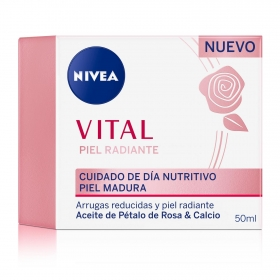 Crema de dia iel readiante cuidado de dia nutritivo piel madura Nivea Vital 50 ml.