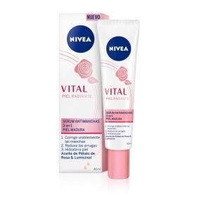 Serum antimanchas 3 en1 piel madura Nivea Vital 40 ml.