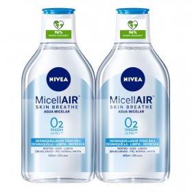 Agua micelar para piel normal Nivea 2 unidades de 400 ml.