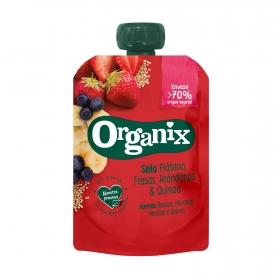 Bosita de plátano, fresa y arándanos con quinoa ecológica Organix 100 g.