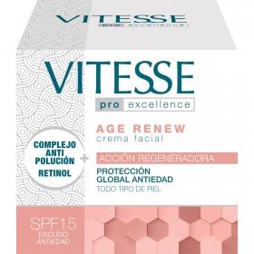 Crema facial acción regeneradora protección global antiedad para todo tipo de piel SPF 15 Vitasse 50 ml.