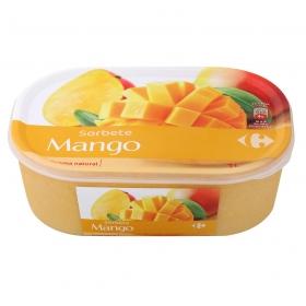 Helado sorbete de mango Carrefour 600 g.