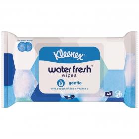 Pañuelos húmedos para manos y cara con un toque de aloe + vitamina E Kleenex Gentle 40 ud.