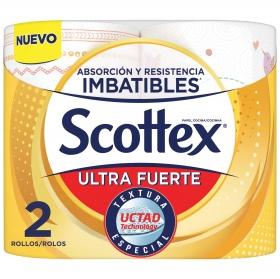 Papel de cocina ultra fuerte Scottex 2 rollos.