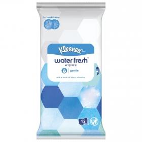 Pañuelos Húmedos para manos y cara con un toque de aloe + vitamina E Kleenex Gentle 12 ud.