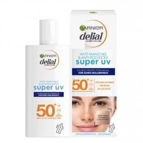 Crema solar facial con ácido hialurónico SPF 50+ sensitive advancedGarnier Delial 40 ml.