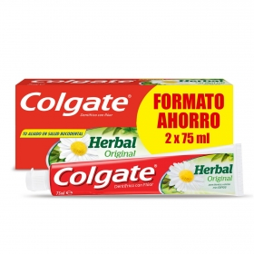 Dentífrico Herbal Tubo Duplo Colgate pack de 2 unidades de 75 ml.