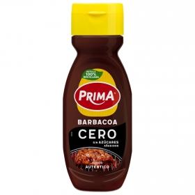 Salsa barbacoa cero Prima sin gluten envase 325 g.