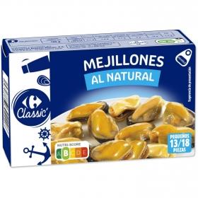 Mejillones de las rías gallegas al natural Carrefour 68 g.