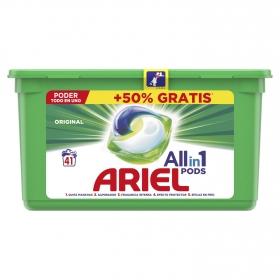 Detergente en cápsulas original All in 1 Pods Ariel 41 Lavados.