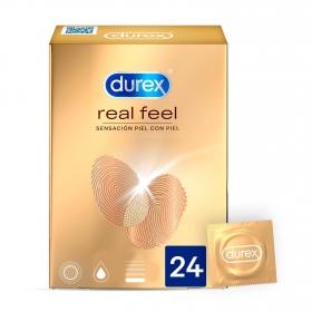 Preservativos sensación piel con piel Durex 24 ud.
