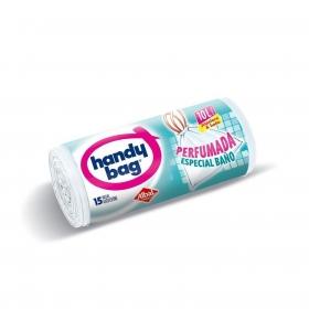 10 Bolsas de basura Baño Perfumadas Handy Bag 10 Litros - Blancas
