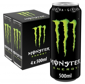 Bebida energética Monster Green pack de 4 latas 50 cl.