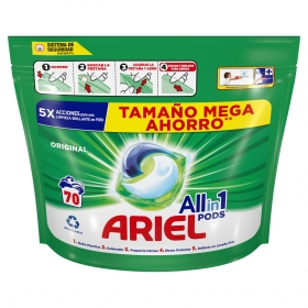 Detergente en cápsulas All in 1 Pods Ariel 70 ud.