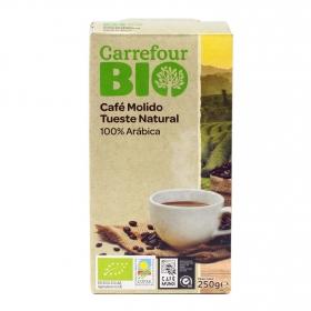 Café molido natural 100% Arábica ecológico Carrefour Bio 250 g.