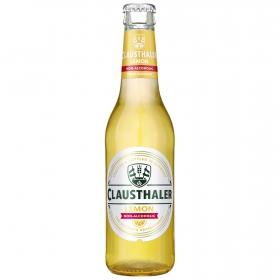 Cerveza Clausthaler sin alcohol con limón botella 33 cl.