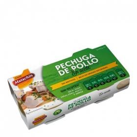 Pechuga de pollo en aceite Casa Matachín sin gluten pack de 2 unidades de 58 g.