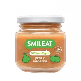 Tarrito de Pera y Manzana Ecológica Smileat 130 gr 4m+