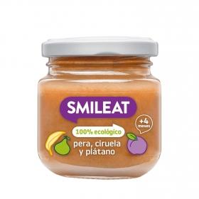 Tarrito de tres frutas ecológico Smileat 130 g.