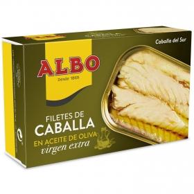 Filetes de caballa del sur en aceite de oliva virgen extra Albo 120 g.