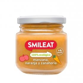 Tarrito de Manzana y Naranja Ecológica Smileat 130 gr 4m