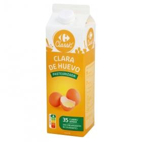 Clara de huevo pasteurizada Carrefour Classic' 1 l.