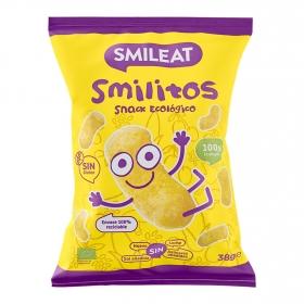 Aperitivo de maiz desde 18 meses ecológicos Smileat Smilitos sin gluten 38 g.