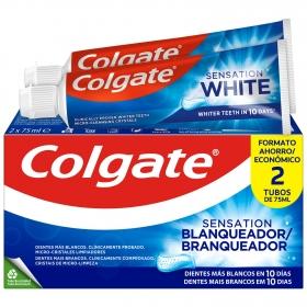 Dentífrico sensation blanqueador Colgate pack de 2 unidades de 75 ml.