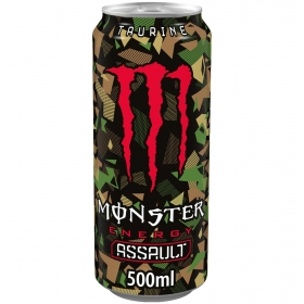 Bebida energética Monster Assault 50 cl.