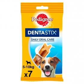 Snacks dental para perros pequeños Pedigree Dentastix pack de 7 unidades