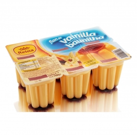 Flan de vainilla Reina sin gluten pack de 6 unidades de 100 g.