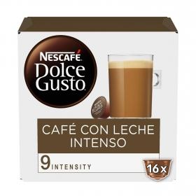 Café con leche intenso en cápsulas Nescafé Dolce Gusto 16 unidades de 10 g.