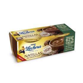 Natillas de chocolate La Lechera pack de 2 unidades de 100 g.